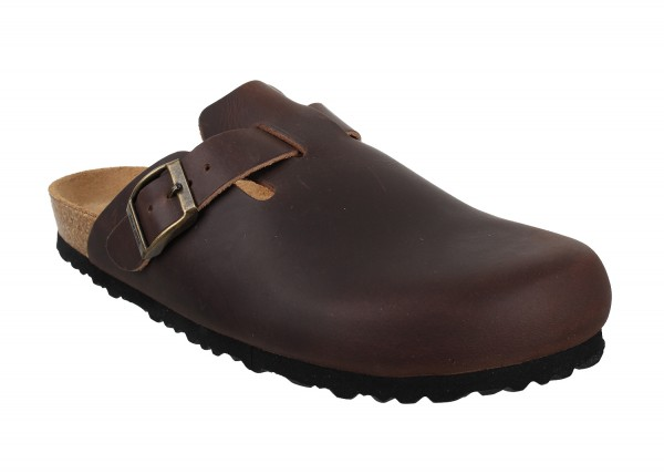 Amsterdam Clog Oiled Leather Comfort